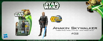 Star Wars Hasbro Action Figure 3.75 Inch Movie Heroes 2013 Edition #02 Anakin Skywalker