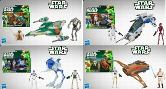 Star Wars Hasbro Action Figure 3.75 Inch Vehicle - Level 1 2013 Edition 4 Type Set