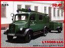 1/35 ドイツ L1500S LLG 消防車 プラモデル(再販)[ICM]《取り寄せ※暫定》