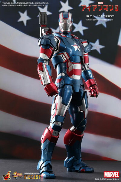 Movie Masterpiece DIECAST - Iron Man 3 1/6 Scale Figure Iron Patriot(Released)