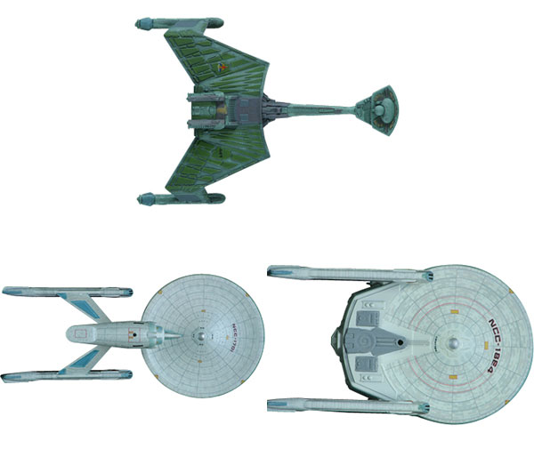 AMT Star Trek 1/2500 Movie Star Trek I & II Spaceship Set of 3 Plastic Model(Released)