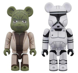 BE@RBRICK - Star Wars 2 Pack Yoda (EP2) & Clone Trooper (EP2)(Released)