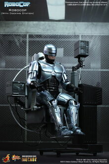 Movie Masterpiece DIECAST - Robocop 1/6 Scale Figure - Robocop w/Docking Station