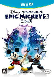 WiiU ディズニー エピックミッキー2:二つの力[スパイク・チュンソフト]《取り寄せ※暫定》(WiiU Disney Epic Mickey 2: Futatsu no Chikara(Back-order))