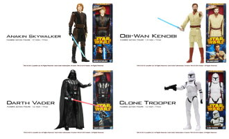 Star Wars Hasbro Action Figure 12 Inch Titan Set of 4 Types(Back-order)
