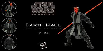 "Star Wars Hasbro Action Figure 6 Inch ""Black"" #02 Darth Maul"