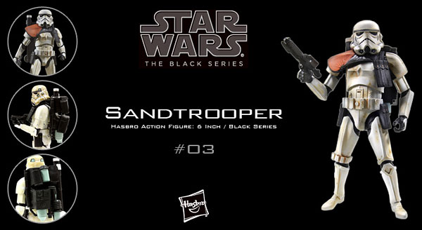 "Star Wars Hasbro Action Figure 6 Inch ""Black"" #03 Sandtrooper"