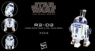 "Star Wars Hasbro Action Figure 6 Inch ""Black"" #04 R2-D2(Released)"
