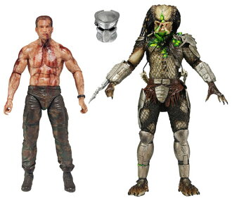 Predator Action Figure 2 Pack: Dutch & Jungle Hunter Predator (Battle Damage ver.)