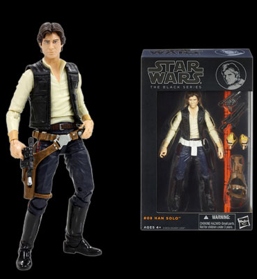 "Star Wars Hasbro Action Figure 6 Inch ""Black"" #08 Han Solo"