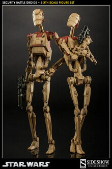 Star Wars - 1/6 Scale Fully Poseable Figure: Militaries Of Star Wars - Security Battle Droid (Set Of 2)