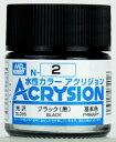 新水性カラー アクリジョンカラー ブラック(黒) 光沢[GSIクレオス]《発売済・在庫品》