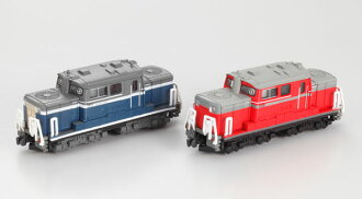 B-Train Shorty Type DD51 Diesel Locomotive A Updated Car (Blue)' B Updated Car (Red)
