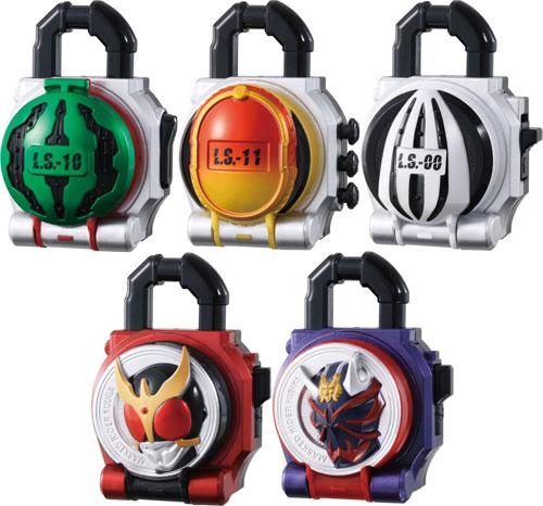 Kamen Rider Gaim - Sound Lock Seed Series SG Lock Seed Part 3 BOX    Kamen Rider Gaim Lock Seed Papercraft