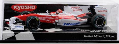 50周年記念モデル 1/43 パナソニック トヨタ レーシング TF109 小林可夢偉 ブラジルGP 2009[京商]《取り寄せ※暫定》