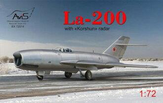 1/72 Russian La-200 Twin-engine Jet Aircraft Plastic Model(Back-order)(1/72 露・ラボーチキンLa-200直列双発ジェット機 プラモデル)