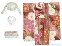 ピュアニーモサイズ PNSモダンどうぶつ着物セット 紅緋×白兎(ドール用衣装)[アゾン]《発売済・在庫品》