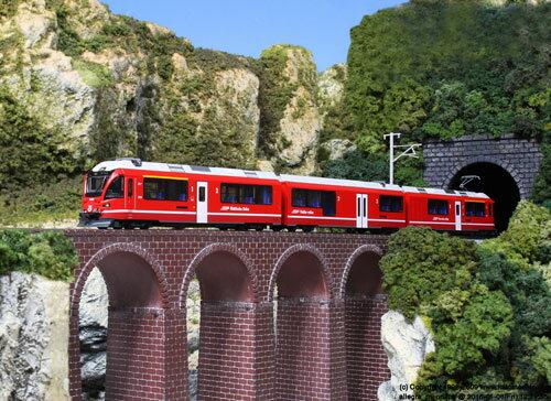 10-1318 レーティッシュ鉄道〈ベルニナ急行〉 5両基本セット[KATO]《発売済・在庫品》