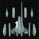 超時空要塞マクロスII-LOVERS AGAIN- 1/60 可変 VF-2SS バルキリーII用 スーパーアームドパック[EVOLUTION・TOY]《08月予約》