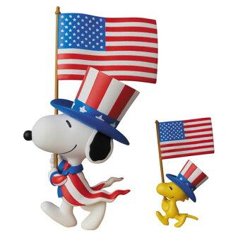 ウルトラディテールフィギュア No.320 UDF ピーナッツ シリーズ5 U.S.A. スヌーピー & ウッドストック(Ultra Detail Figure No.320 UDF - Peanuts Series 5. U.S.A. Snoopy & Woodstock(Pre-order))