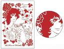ベルサイユのばら グリーティングカード〈レーザーカットタイプ〉 C(レッド)[POMMOP]《12月予約》