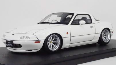 1/18 ユーノス Roadster (NA) White[イグニッションモデル]【送料無料】《08月予約》