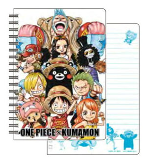 ワンピース×くまモン B6ツインリングノート(ONE PIECE x Kumamon - B6 Twin Ring Notebook(Pre-order))