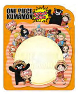ワンピース×くまモン 付箋(ONE PIECE x Kumamon - Sticky Notes(Pre-order))