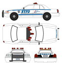 1/64 Hot Pursuit - 2011 Ford Crown Victoria Police New York City Police Dept wit...