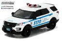 1/64 Hot Pursuit - 2016 Ford Interceptor Utility New York City Police Dept with NYPD Squad Number Decal Sheet[グリーンライト]《02月仮予約》