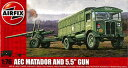 1/76 5.5インチ砲&マタドール プラモデル(再販)[エアフィックス]《取り寄せ※暫定》