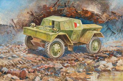 1/100 ディンゴMK1 イギリススカウトカー プラモデル(再販)[ズベズダ]《取り寄せ※暫定》