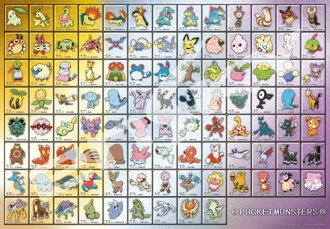 ジグソーパズル ポケットモンスターズ ポケモン図鑑 No.152~No.251 1000ピース (1000T-40)(Jigsaw Puzzle - Pokemon: Pokemon Zukan No.152 - No.251 1000pcs (1000T-40)(Pre-order))
