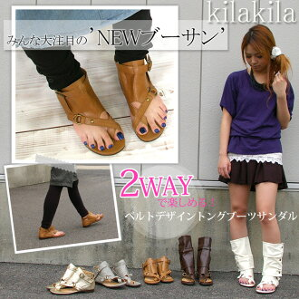 NEW ブーサン receive better in ベルトデザイントング boots Sandals 2-Way wear! /