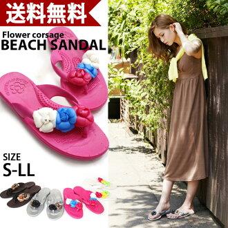 ラバートング Sandals 3 / Camellia ☆ / ビーチサンダル / Flower / Pink / pettanko