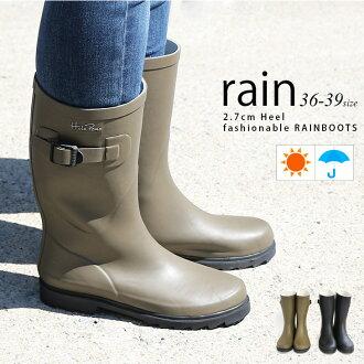 雨鞋低跟鞋橡膠靴中間長度橡膠黑雨靴膠鞋雨的婦女的鞋驅蚊水