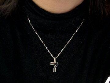 チタンネックレス&天然ダイヤ[Cross×Ri...の紹介画像3