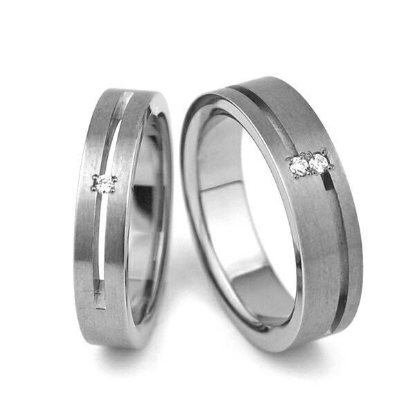 チタンペアリング 天然ダイヤモンド [R0024-WDAXX&R0023-WDAXX]