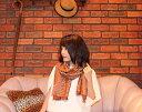 夏秋チェック織りストール【シルクリネン】ショートフリンジ【ネパール製】ポスト投函便で