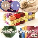 (毛糸)あみもねっと 気になるメリノ中細 〈メリノウール100%使用〉日本製 純毛 オリジナル毛糸