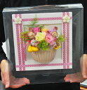 【誕生日 感動笑顔の花ギフト】枯れないお花大人気のディズニー・ミッキーマウス 沖縄・北海道は送料+500円 「プリザーブドフラワーディズニーフレーム」ディズニーの大人気キャラクターが入ったプリザーブドフラワーをお誕生日やお祝いに