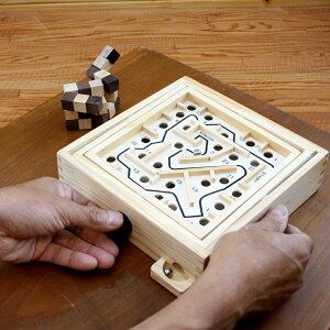 【NEW】迷路ゲーム(Maze Game)スモール 脳トレ 木製