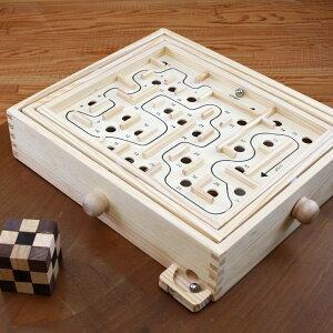 【NEW】迷路ゲーム(Maze Game)ラージ 脳トレ 木製ゲ