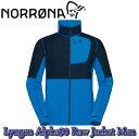 【NORRONA】ノローナ lyngen Alpha90 Raw Jacket Men Hot Sapphire ミッドレイヤー 登山 トレッキング バックカントリー 送料無料