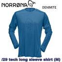 速乾ロングスリーブシャツ【NORRONA】ノローナ/29 tech long sleeve Shirts M DENIMITE トレッキング/登山/マウンテンバイク/バイク/ビーチ/速乾シャツ/透湿/速乾/吸汗/メンズ/男性