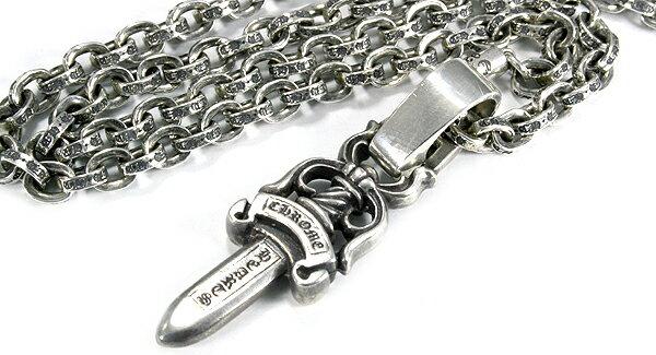 クロムハーツ(Chrome Hearts)ネックレス・ペーパーチェーン20インチ(約50cm)/ベイルプレーン/#10ダガー クロムハーツ 財布ならAMS.