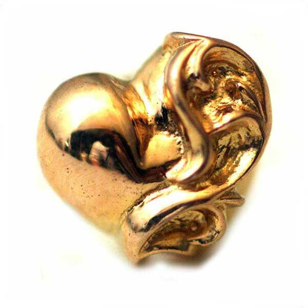クロムハーツ(Chrome Hearts)ピアス・ハート スタッドK22ゴールド