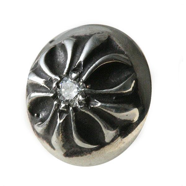 クロムハーツ(Chrome Hearts)ピアス・クロスボール・ウィズ・ダイヤモンド