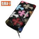 クロムハーツ 財布(Chrome Hearts)REC・F・ZIP#2・ブラック・ライトレザー・キルティング・セメタリークロス・マルチカラー(クロム・ハーツ)(長財布)