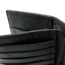 クロムハーツ財布長財布二つ折り財布メンズ(CHROMEHEARTS)クロムハーツウェーブウォレットクロスボタンブラックヘビーレザー(送料無料クロム・ハーツウォレット小銭入れメガネバッグ)